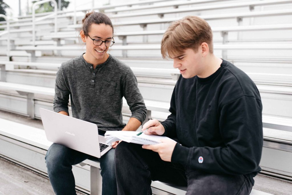 One-on-One Math Tutoring Session with Emergent Education Tutor Eric Sorensen at Portland High School